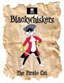 Blackwhiskers the Pirate Cat cartoon, based on an idea by Elizabeth Kennedy
