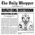 Burger King Overthrown cartoon
