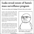 Santa surveillance cartoon